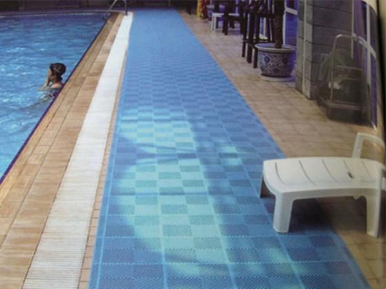 Wet floor sign in pool floors doors interior design for Pool area flooring