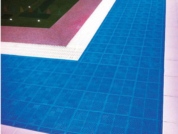 Swimming pool mat wet area mat beijing aomi for Pool area flooring